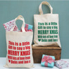 Easy carrying customized small printed canvas tote 28(w)x33(h)cm
