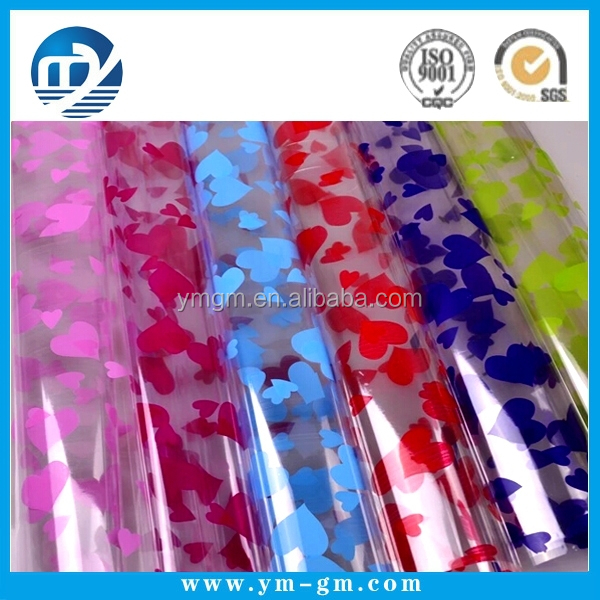 Transparent plastic wrapping paper with your own design