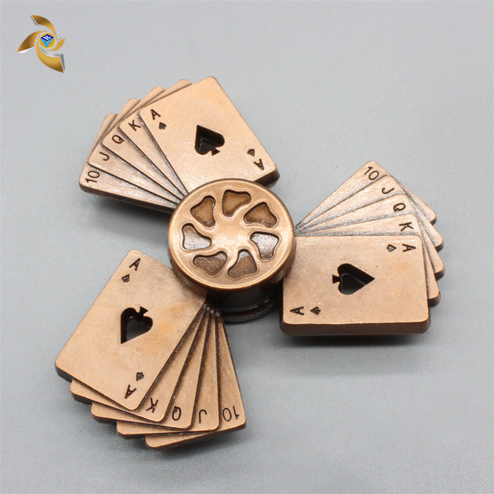 The latest poker fidget hand spinner with high quality bearing