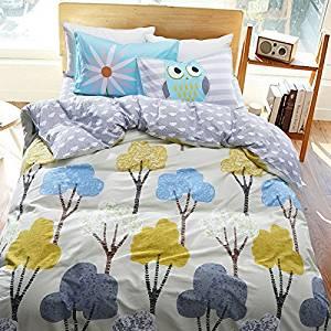 Shrub Gray Bedding Kids Bedding Teen Bedding Dorm Bedding Gift Idea, Full Size