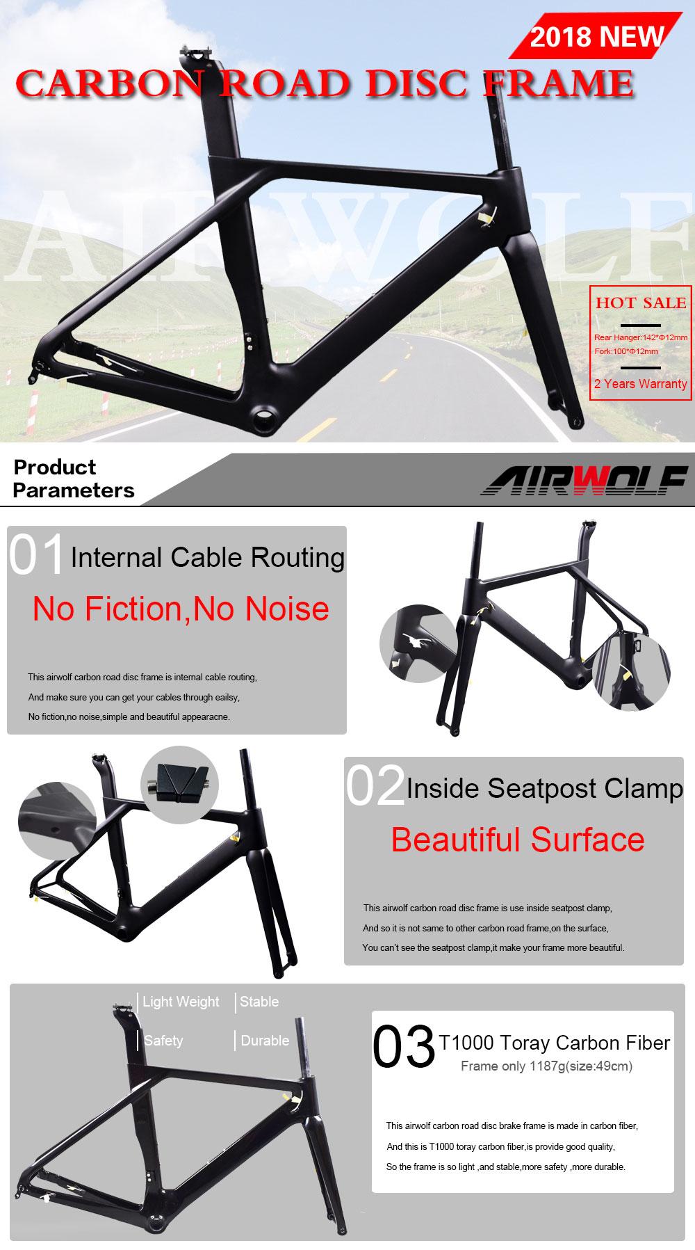 Carbon Road Disc Frame Max Tire 700*32C Road Carbon Frame Carbon Road Bike Frame