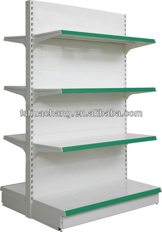 Exhibición de la tienda de muebles de metal de doble bastidor- cara ...