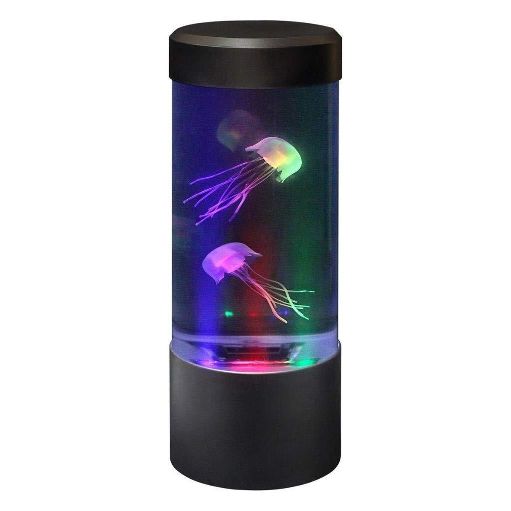 Led Jellyfish Tank Sea World Swimming Mood Colour Changing Lamp Night Light Hot Led Lamps