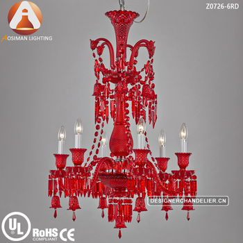 6 light baccarat style red crystal chandelier view crystal 6 light baccarat style red crystal chandelier aloadofball Images