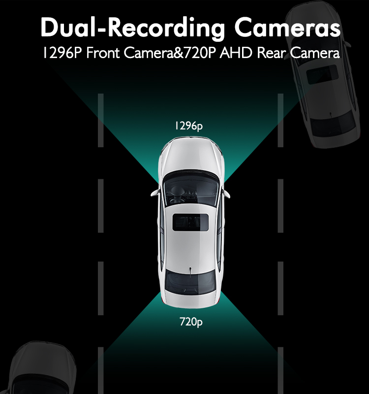 9.88'' AHD Streaming media hd 1080P  car  dash cam user manual  car mirror camera dvr