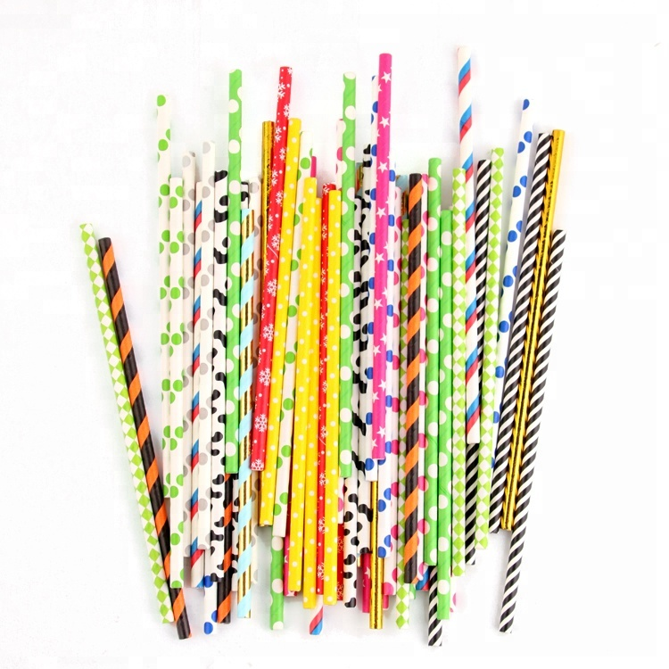 Disposable ,Eco-Friendly,White Kraft Drinking Paper Straw