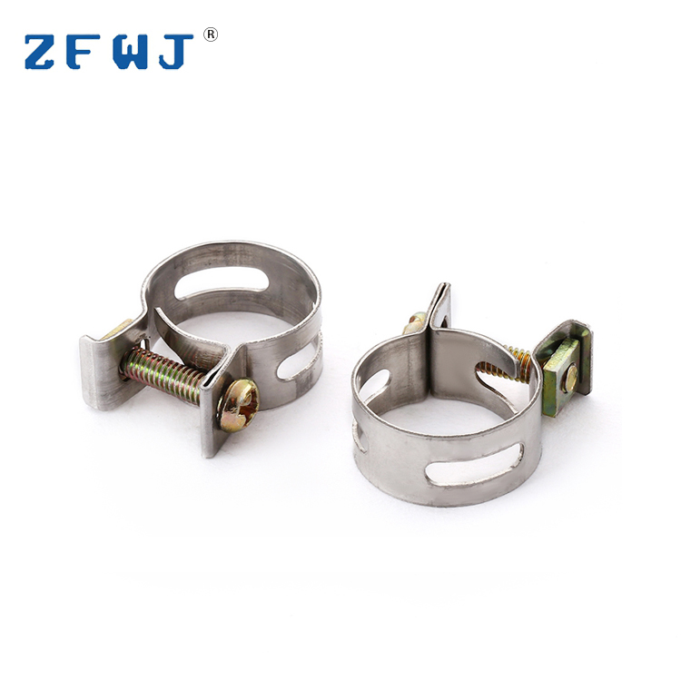 High quality 18mm size adjustable beautiful stainless steel gas hose clamp