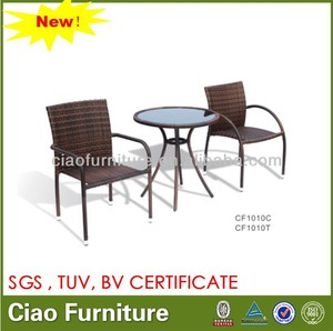 outdoor table with 2 chairs BALCONY FURNITURE simple coffee table set