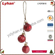 inventive red glass Christmas tree decoration mini glass Christmas ornaments