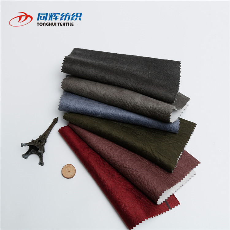Economic Price Wholesale  Knitting Embossed Printed Suede Fabric, Suede Fabric For Sofa