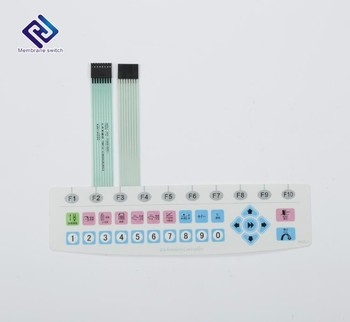 PET/PC overlay material silver ink paste conductive flexible circuit  membrane keyboard switch