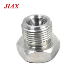 Full thread hex head bolt with internal thread