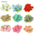 2cm Artificial Mini Silk Rosettes Fabric Flowers Heads Making Handmade Satin Ribbon Roses DIY Craft For Wedding Decoration