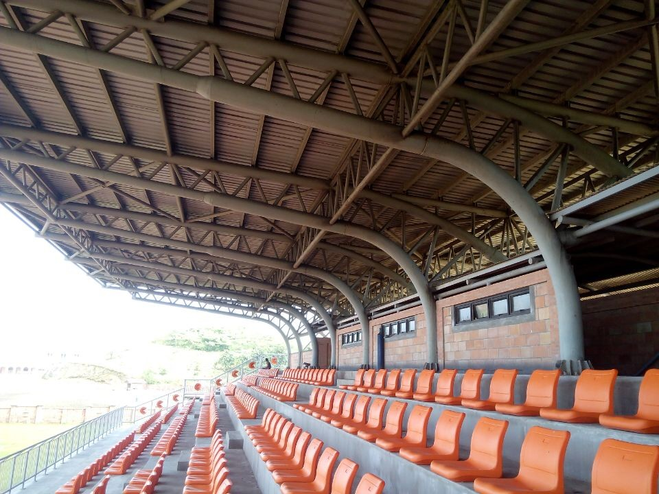 high design standard waterproof stable large span stadium bleachers