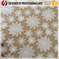 3d flower/beaded chemical lace embroidered fabric wedding discount lace fabric wedding lace fabric