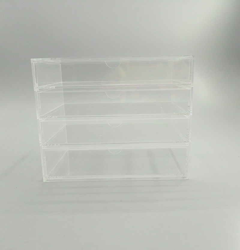 4 layers transparent acrylic storage box,divided cosmetics case
