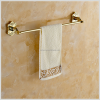 Art Carving Household Hotel Bathroom Accessories Wall Mounted Gold Towel Bar BM15224 Towel Holder