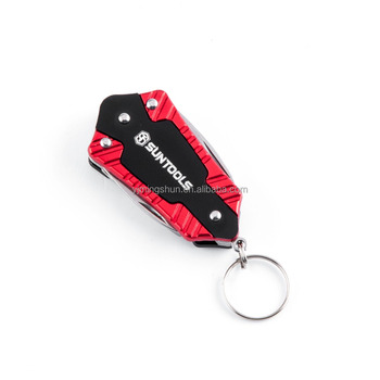 Suntools Multi-function 4 in 1 Promotional tools with keychain