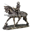 Medieval Knight Templar On Horse Sculpture