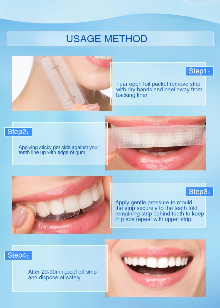 CE approvato DALLA FDA naturale onuge sbiancamento dei denti strisce di gel whitestrips