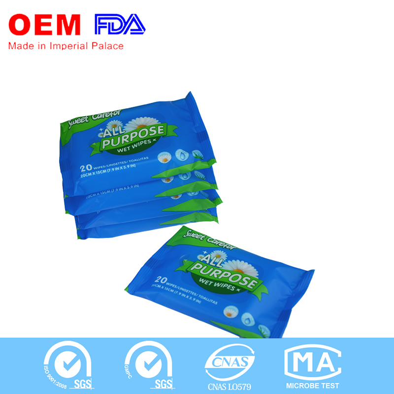 Natural Organic Eco-friendly custom wet wipes