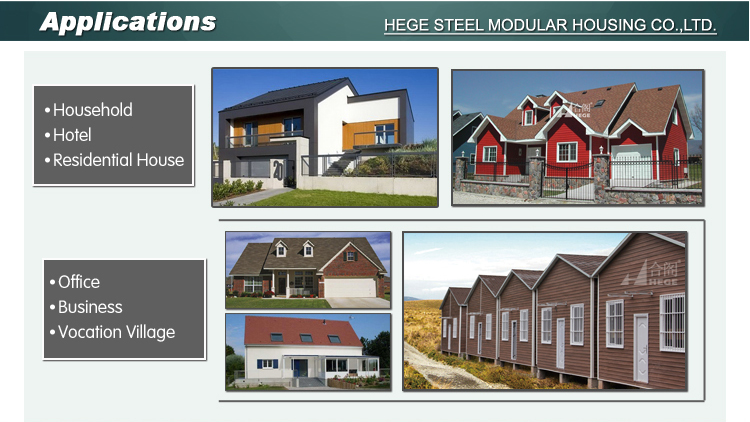 ready made light steel villa