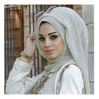 2019 Top Selling Most Popular Shiny Polyester Crinkle Scarf Black Women Hijabs For Muslim/Islamic/Arab
