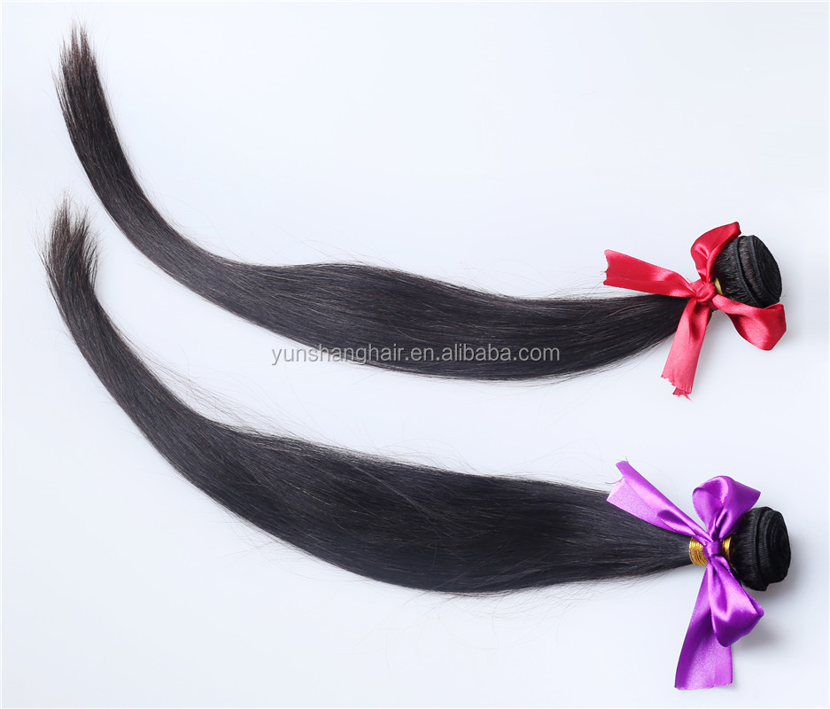 100% Brazilian Human Hair Extensions Straight And Weave Mixed Color Hair Weft
