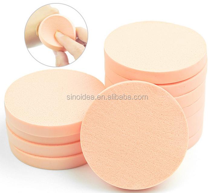 Branded Roze luchtkussen puff met lint stichting, cosmetische bladerdeeg, aangepaste logo.