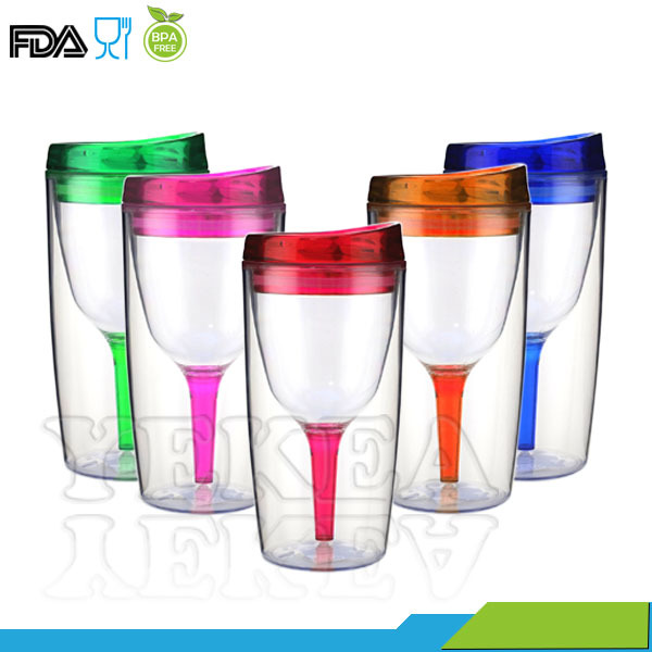 Bev2go Double Wall Insulated 10 Oz Acrylic Tumbler