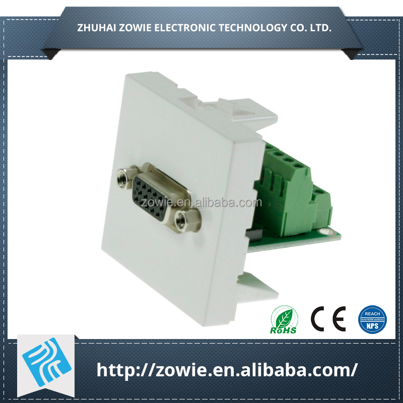 High-end Aluminium HDMI Wall Socket Plates with AVand Network