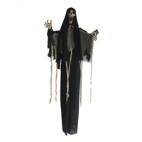 200cm Spider Web Clothes Skeleton Decoration Halloween Creepy Hanging Skeleton