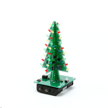 Three Dimensional 3D Christmas Tree LED DIY Kit Red / Green / Yellow LED Flash Circuit Kit Electronic Fun Suite as Gift