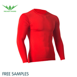 Fitness Long Sleeves Shirt Men Readypard Compression Gym Shirt