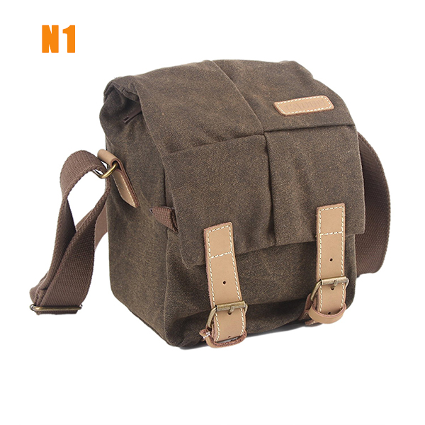Waterproof Canvas Digital DSLR Camera Bags Casual Sling shoulder bag for Sony Canon Nikon Olympus