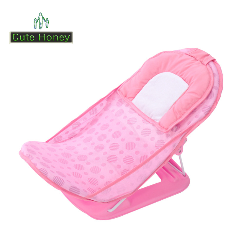 Buy Baby Bath Chair with Pillow Cotton Plastic Adjustable Folding ...