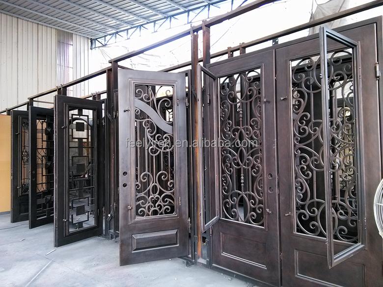 Ornamental Wrought Iron Front Door Fd 107 Buy Wrought