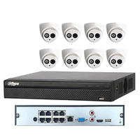 dahua 8 channel 4MP IP camera IPC-HDW4433C-A 8POE NVR4108HS-8P-4KS2 Surveillance Dahua Security Camera System