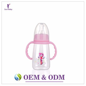 PC baby feeding bottle factory made for baby milk powder feeder