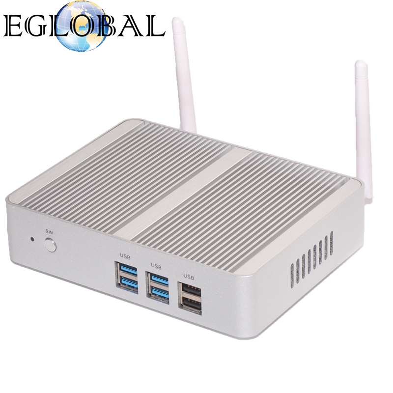 Mini Computer Thin PC Smart Client 2GB Ram 32GB SSD Fanless Nuc Intel Core i5 4200Y i3 4012Y 300M Wifi VGA+Gigabit Lan+USB