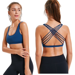 c021d6f69 Custom Private Label Fitness Padded Shock absorber Sexy Strappy Sports Bra  for Women