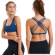 Custom Private Label Fitness Padded Shock absorber Sexy Strappy Sports Bra for Women
