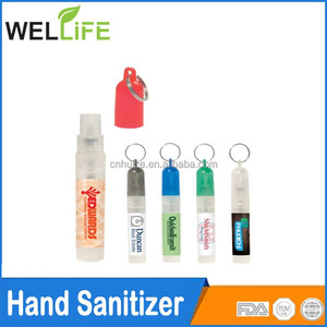 factory wholesale Promotion 5ml pen spray hand sanitizer with keychain