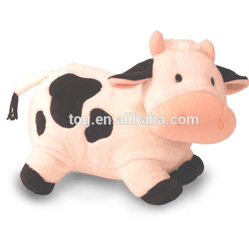 Baby Relaxing Toy Stuffed Animal Plush Cow Soft Lovely Pink Farm