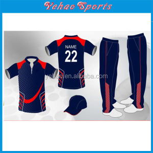 100% polyester Material and Adults Age Group custom Training cricket jersey