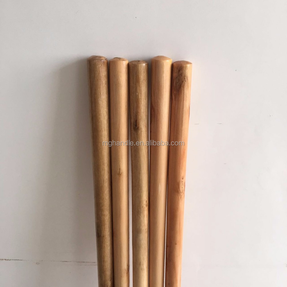 Varnished wooden broom handle/broom stick/mop handle
