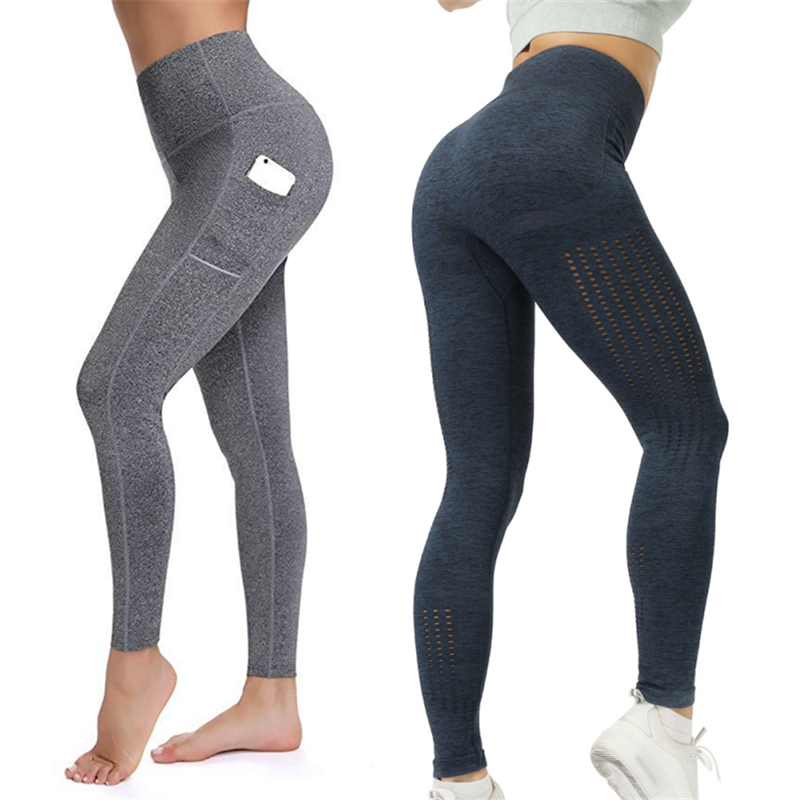 Stretch Schlank Yoga Leggings Sport Frauen Fitness Gym Strumpfhosen