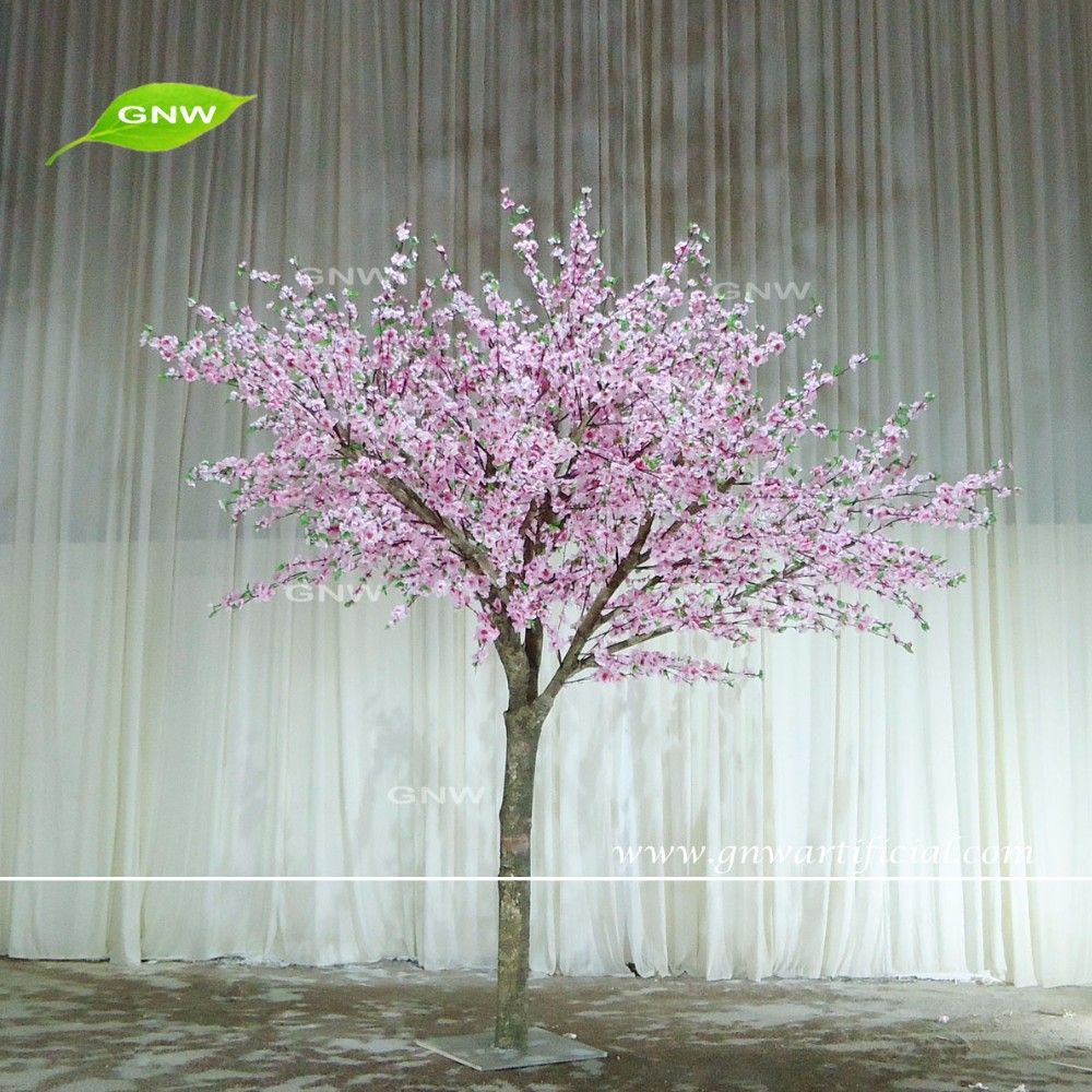GNW BLS038 1 Wedding Decoration Gate Flower Silk Cherry Blossom Trees 10ft White Best Selling