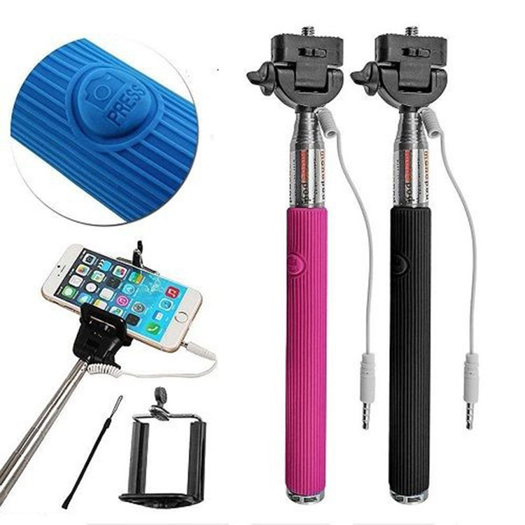 Foldable Extendable Mini Selfie Stick new cable take pole selfie stick