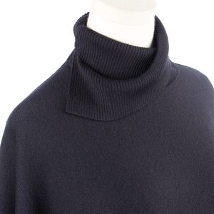 Women Blank Turtleneck Knit Sweater , Poncho Turtleneck Sweater